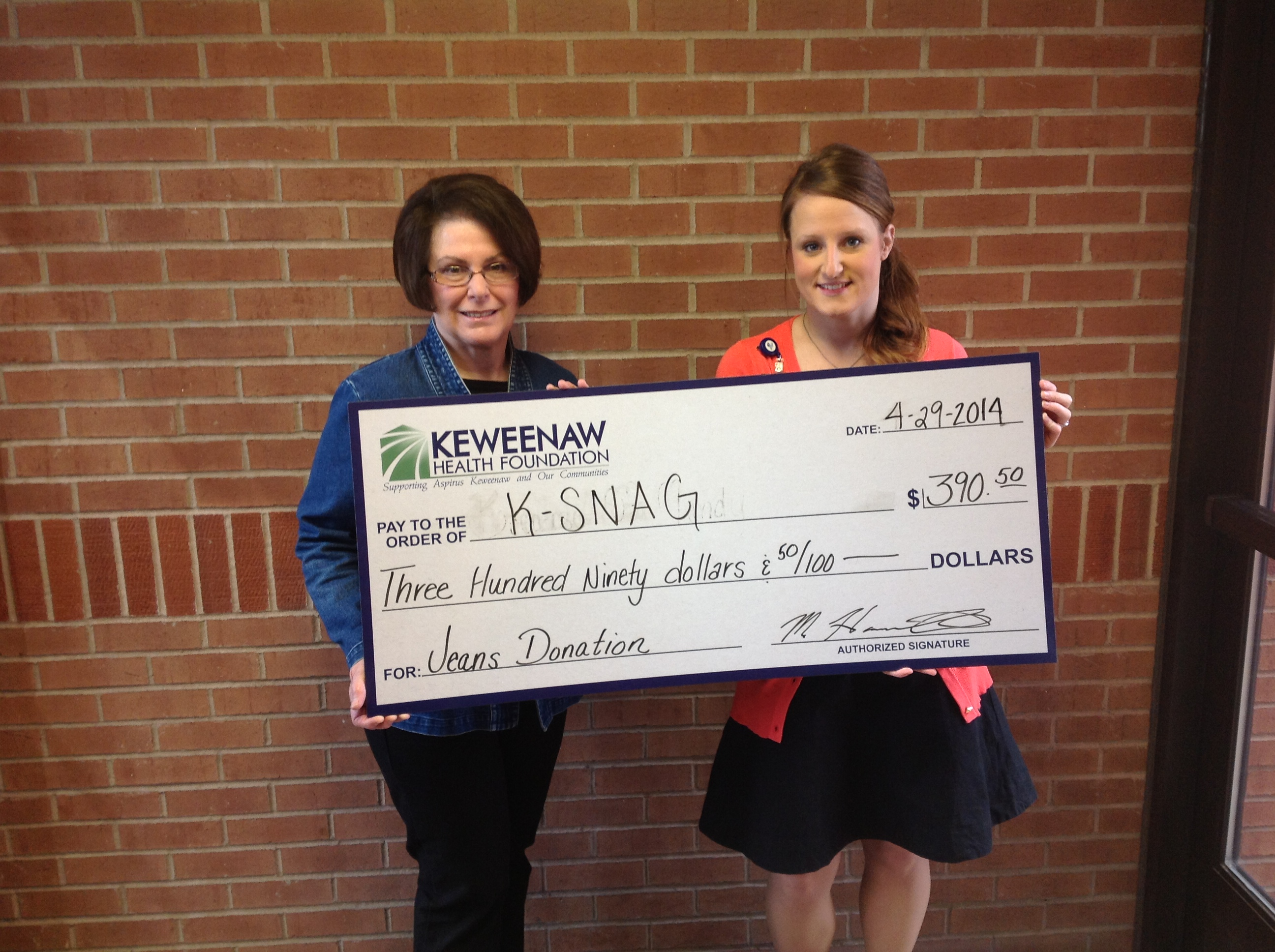 Keweenaw Health Foundation Omgea House Donation