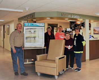 AOH Foundation purchases recliner chair, blanket warmer for patients