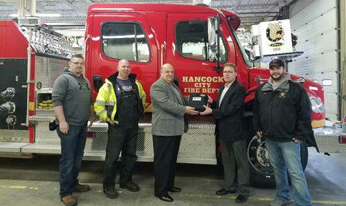 Hancock Fire Department Donation