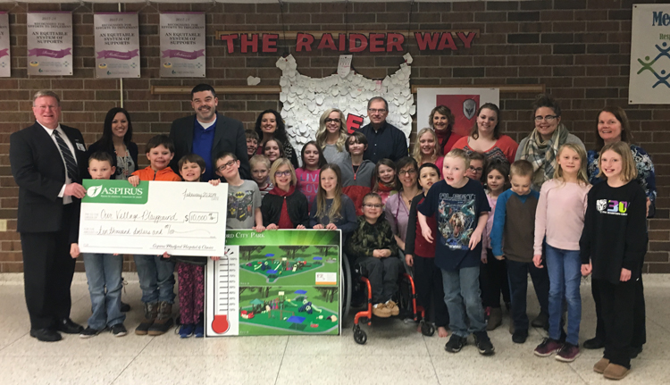 $10,000 donation to Our Village Playground