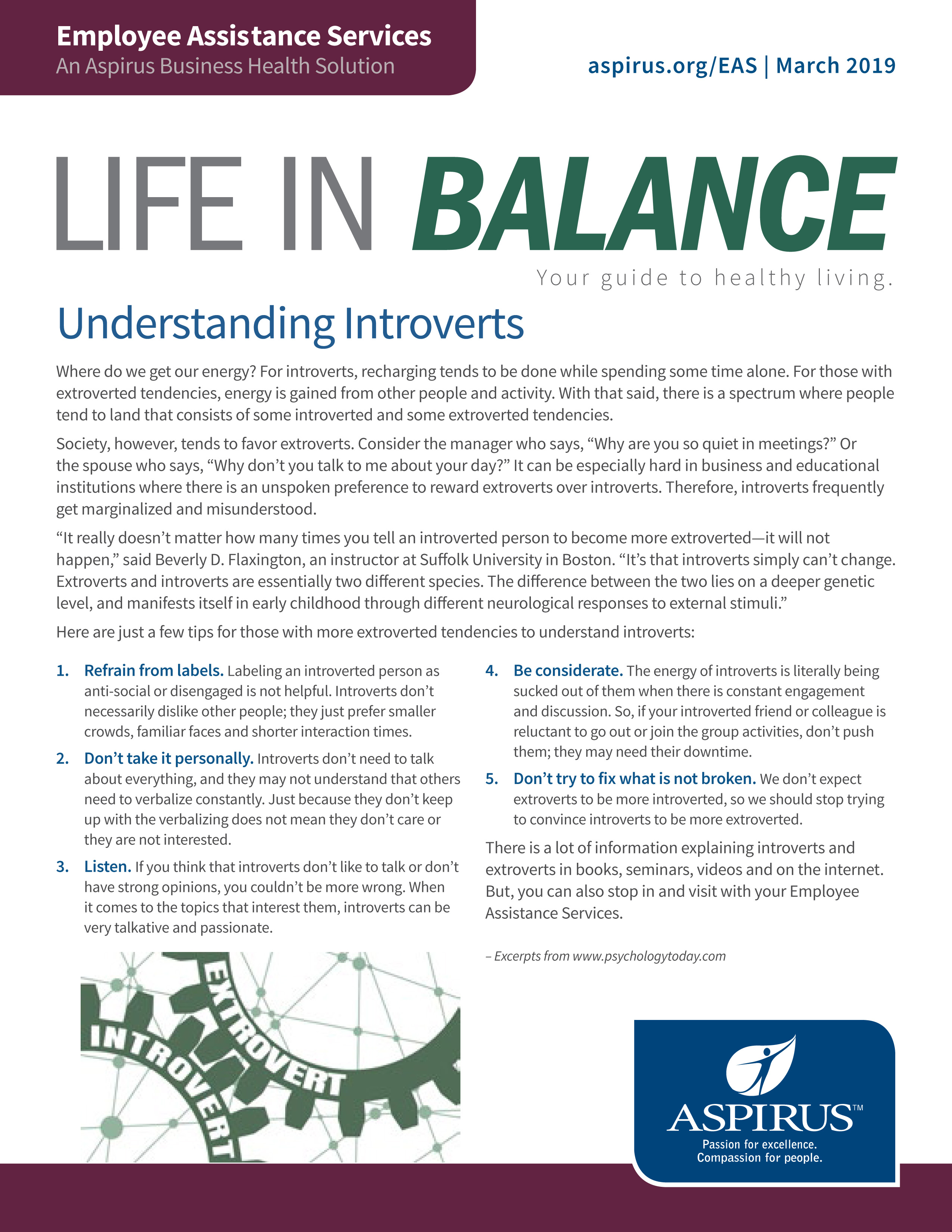 Life in Balance March 2019