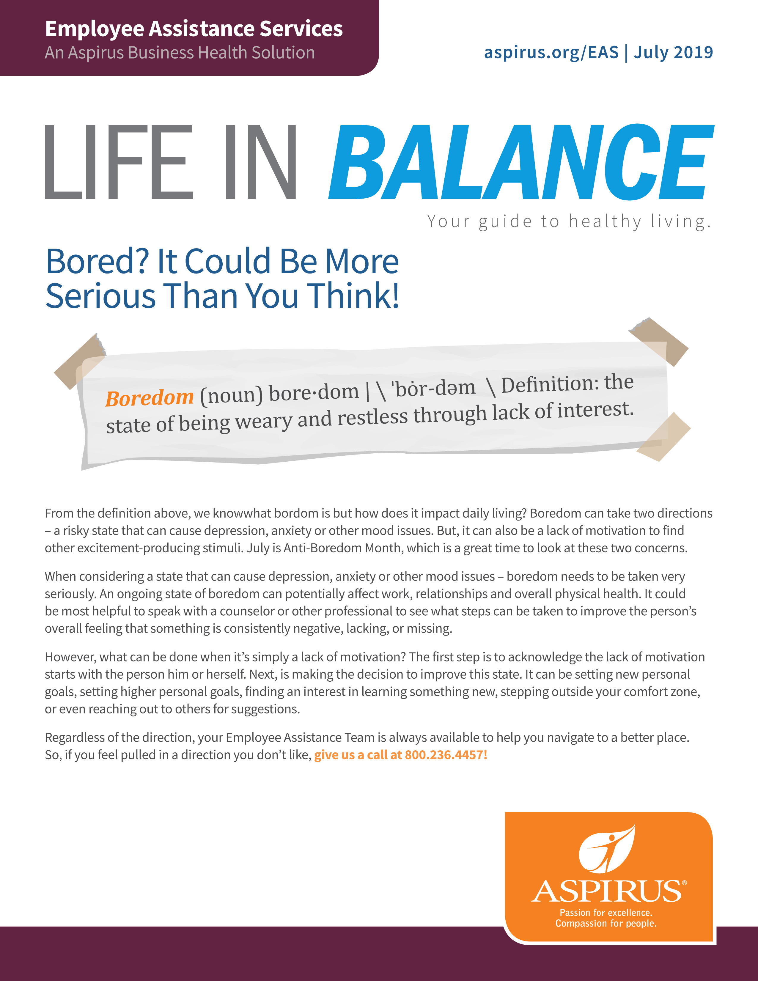 Life In Balance July 2019