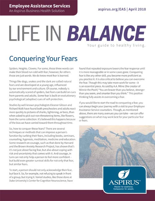 Life in Balance: April 2018 Edition
